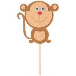 Opice z filcu zápich 8 cm + špejle