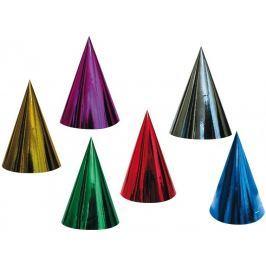 Klobouček karnevalový hologramový různé barvy 6 kusů v balení