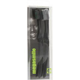 MegaSmile Black Whitening Měkký Kartáček na zuby s technologií uhlíkových vláken 2 kusy, duopack