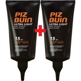 Piz Buin Ultra Light SPF15 ultra lehký hydratační fluid na opalování 150 ml + SPF15 ultra lehký hydratační fluid na opalování 150 ml, duopack