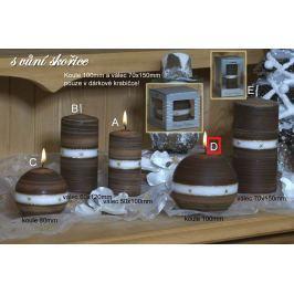 Lima Aura Skořice vonná svíčka hnědá koule v dárkové krabičce 100 mm 1 kus