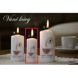 Lima Káva vonná svíčka bílá válec 40 x 90 mm 1 kus