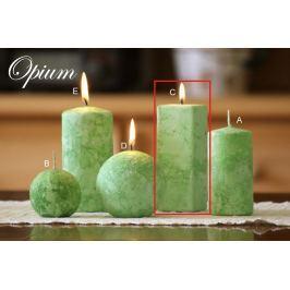 Lima Mramor Opium vonná svíčka zelená hranol 45 x 120 mm 1 kus