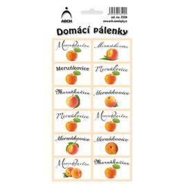 Arch Samolepky Domácí pálenky Meruňkovice 12 etiket