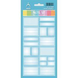 Arch Samolepky do domácnosti Pastelový set modrý 3564 12 etiket