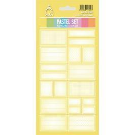 Arch Samolepky do domácnosti Pastelový set žlutý 12 etiket
