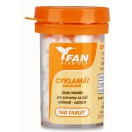 Fan Cyklamát Umělé sladidlo sacharin 10 g 160 tablet