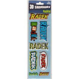 Nekupto 3D Samolepky se jménem Radek 8 kusů 064