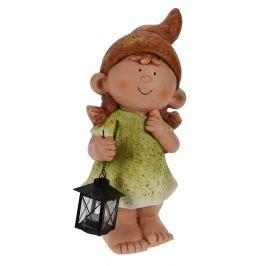 PROGARDEN Zahradní dekorace holka s lucernou 43 cm KO-795200860holk
