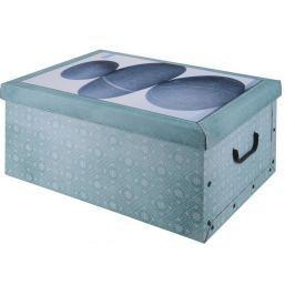 EXCELLENT Úložný box dekorativní design kůže zelený KO-M31500050zele