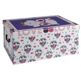 EXCELLENT Úložný box dekorativní sovy fialový KO-M30500360fial