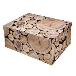 EXCELLENT Úložný box dekorativní design dřevo špalky KO-M30500300drev