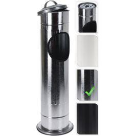 PROGARDEN Venkovní popelník a koš 2v1 stříbrná KO-C80820500stri