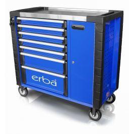 ERBA Dílenský vozík 7 uzamykatelných zásuvek a skříňka, bez nářadí ER-14223