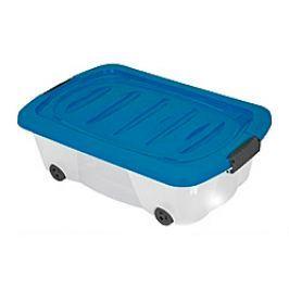 KAISERHOFF Úložný box pojízdný 24 l, modrý KO-899487modr