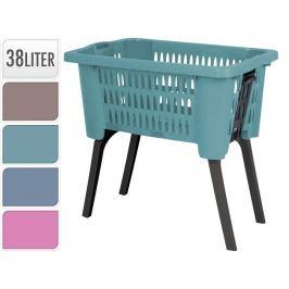 Koš na prádlo plast skládací nohy 38 l modrá EXCELLENT KO-Y54230140