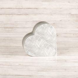 Dárková krabice Lina, stříbrná, vzor vlnky velikosti krabice Lina: 1 - 7,3x7x3 cm