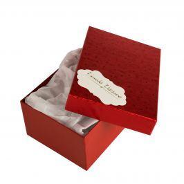 Box Hana 1, červené komety, se jmenovkou a hedvábným papírem