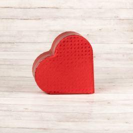 Dárková krabice Lina, červená, vzor srdíčka velikosti krabice Lina: 2 - 10,3x9,5x4 cm