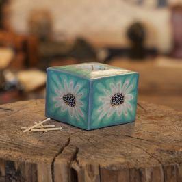 Svíčka Blue Daisy Kostka