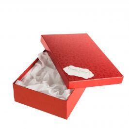 Box Max 10, červené komety, se jmenovkou a hedvábným papírem