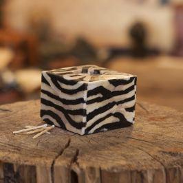 Svíčka New Zebra Kostka Dárky z Afriky