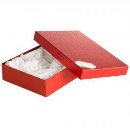 Box Sabina 2, červené komety, se jmenovkou a hedvábným papírem
