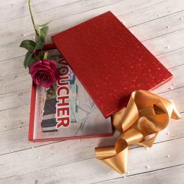 Dárková krabice Ilona 2, červené komety
