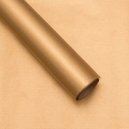 Balicí papír, natura, zlatý