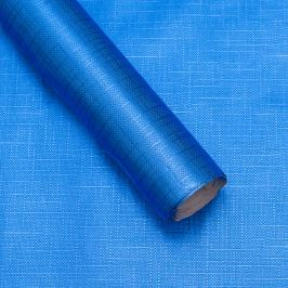 Luxusní strukturovaný balicí papír, modrý, vzor křížky