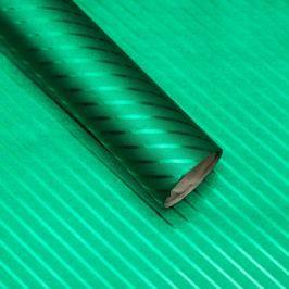 Luxusní strukturovaný balicí papír, zelený, vzor pruhy