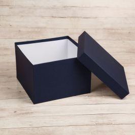 Dárková krabice Zina, modrá natur velikosti krabice Zina: 4 - 14x14x11 cm