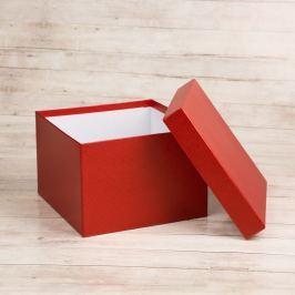 Dárková krabice Zina, červená natur velikosti krabice Zina: 4 - 14x14x11 cm