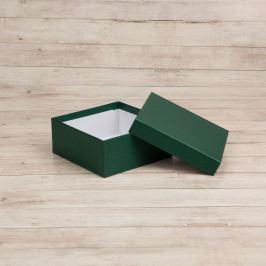 Dárková krabice Karla, zelená natur velikosti krabice Karla: 4 - 14x14x6 cm