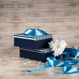Dárková krabice Bořek, pruhovaná velikosti krabice Bořek: 4 - 25x25x10,5 cm