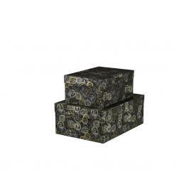 Dárková krabice Bety, šedá, vzor razítka velikosti krabice Bety: 6 - 40x28x15,5 cm