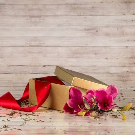 Dárková krabice Hana, zlatá natur