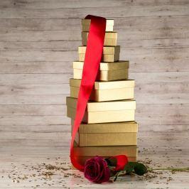 Dárková krabice Karla, zlatá natur velikosti krabice Karla: 2 - 10x10x4,5 cm