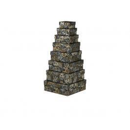 Dárková krabice Karla, šedá, vzor razítka velikosti krabice Karla: 1 - 8x8x4 cm