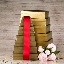 Dárková krabice Max, zlatá natur velikosti krabice Max: 2 - 10x7x3 cm