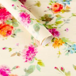 Balicí papír, letní květy