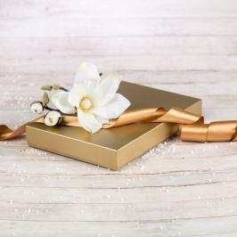 Dárková krabice Ilona, zlatá natur velikosti krabice Ilona: 1 - 22x15x3,5 cm
