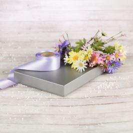 Dárková krabice Ilona, stříbrná natur velikosti krabice Ilona: 1 - 22x15x3,5 cm