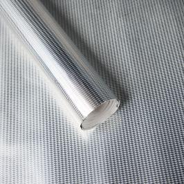 Luxusní strukturovaný balicí papír, stříbrný, vzor mini káry