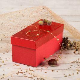 Dárková krabice Jana 1, červené komety Vánoce