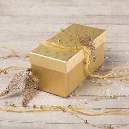Dárková krabice Jana 1, zlaté vločky