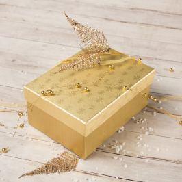 Dárková krabice Hana 2, zlaté vločky