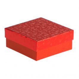 Dárková krabice Karla, červené komety velikosti krabice Karla: 3 - 12x12x5 cm