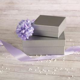 Dárková krabice Karla, stříbrný natur velikosti krabice Karla: 3 - 12x12x5 cm