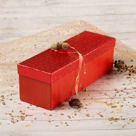 Dárková krabice Linda 6, červené komety